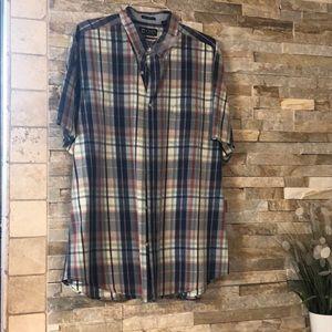 Men's Chaps button down short sleeve shirt